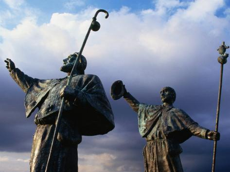 Pilgrim Statues, Santiago De Compostela, Spain Photographic Print by ...