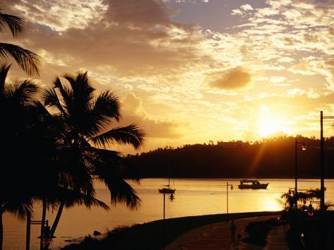 Samana Bay at Sunset, Samana, Dominican Republic Photographic Print
