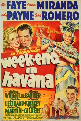 Weekend in Havana マスタープリント