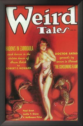 Weird Tales - Pulp Poster, 1933 Framed Art Print