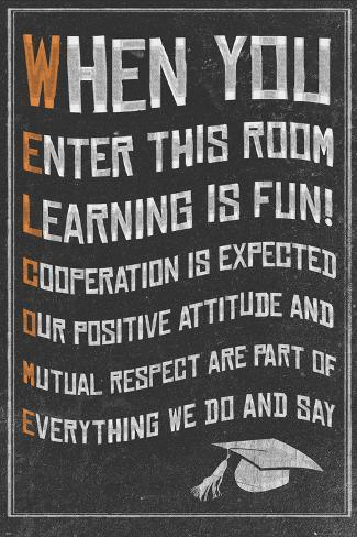 Welcome- New Classroom Motivational Poster Poster