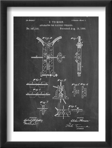Welding Machine Patent Framed Art Print