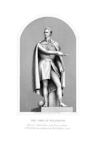 Wellington Statue Giclee Print