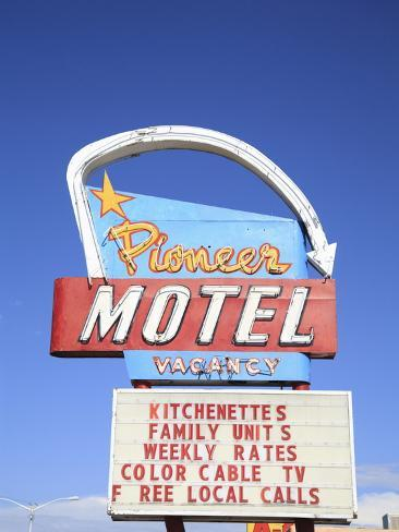 Motel, Route 66, Albuquerque, New Mexico, United States of America, North America Photographic Print