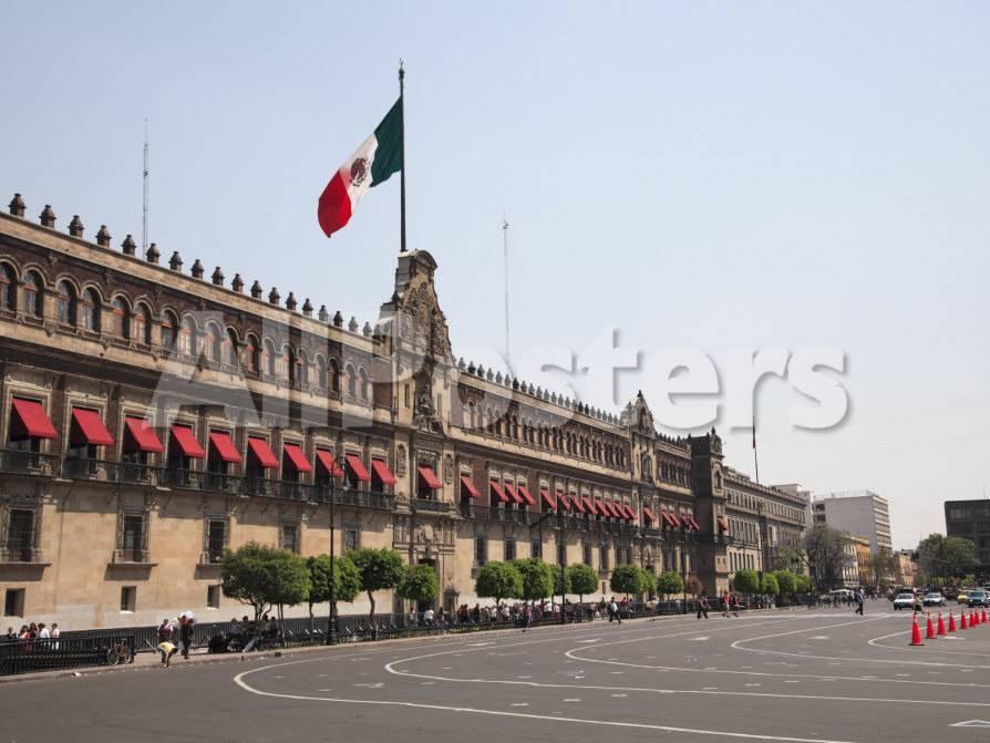 National Palace (Palacio Nacional), Zocalo, Plaza De La Constitucion ...
