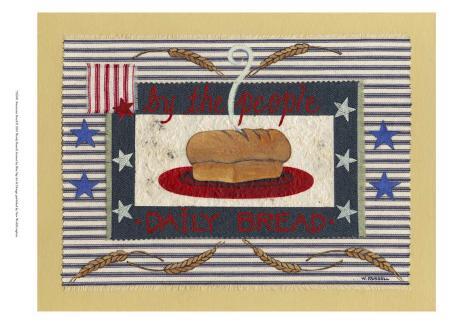 Americanna Bread Art Print