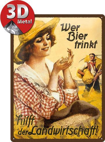 Wer Bier trinkt hilft... Fräulein Peltikyltti
