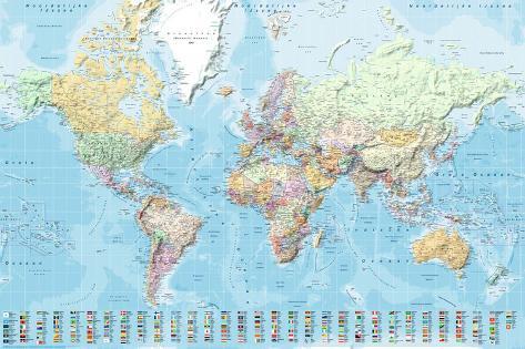Wereldkaart staatkundig nederlandstalig poster at allposters wereldkaart staatkundig nederlandstalig thecheapjerseys Choice Image