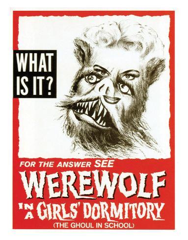 Werewolf In A Girls' Dormitory - 1961 Impressão giclée
