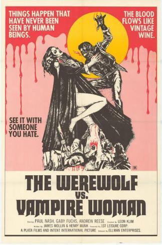 Werewolf vs. the Vampire Women Impressão original