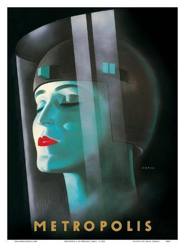 Metropolis - Directed by Fritz Lang Art Print