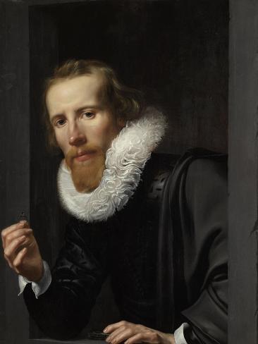 Portrait of a Goldsmith, Probably Bartholomeus Jansz Van Assendelft Art Print