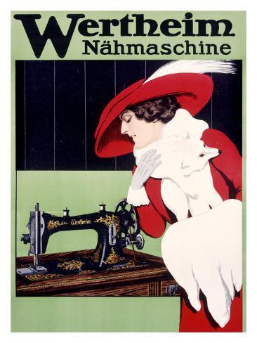 Wertheim Sewing Machine Giclee Print