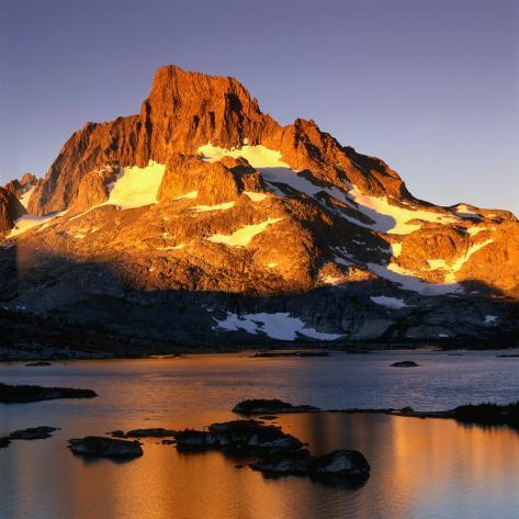 Banner Peak and Thousand Island Lake in the Sierra Nevada Mountains, California, USA Photographic Print