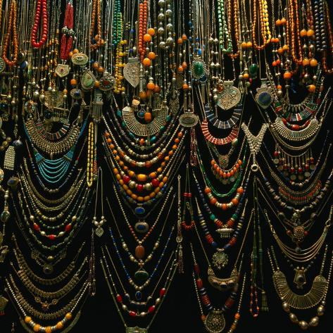 Jewellery for Sale at Istanbul Bazaar, Istanbul, Turkey Photographic Print