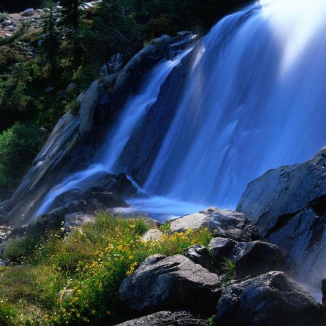 Waterfall, Sierra Nevada Mountains, Ansel Adams Wilderness Area, USA Photographic Print