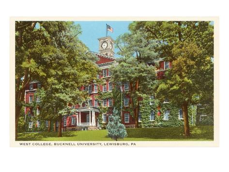 West College, Bucknell, Lewisburg, Pennsylvania Art Print