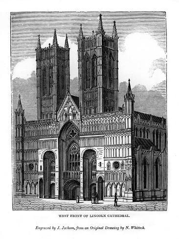 West Front of Lincolin Cathedral, 1843 Giclee Print