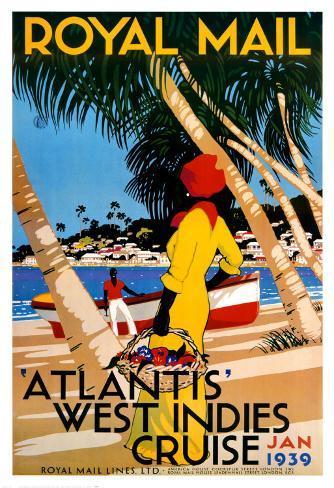 West Indies Cruise Art Print