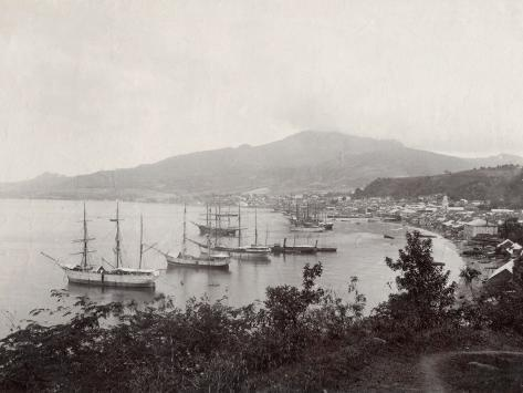 West Indies, View of St. Pierre, Martinique Fotoprint