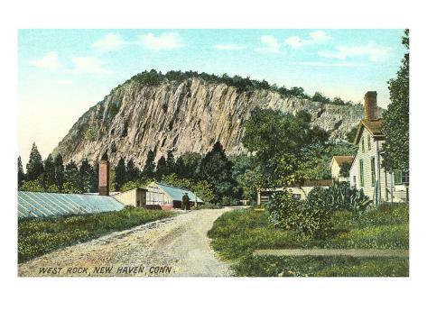 West Rock, New Haven, Art Print