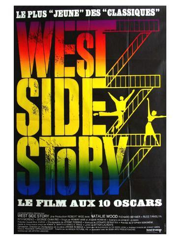 West Side Story, French Movie Poster, 1961 Art Print