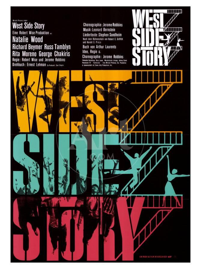 West Side Story German Movie Poster 1961 Prints