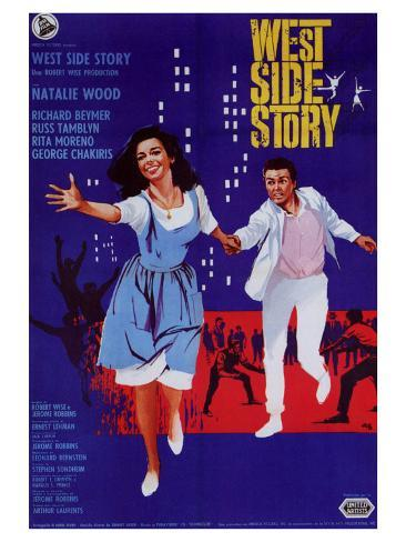 West Side Story, Italian Movie Poster, 1961 Art Print
