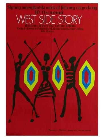 West Side Story, Polish Movie Poster, 1961 Art Print
