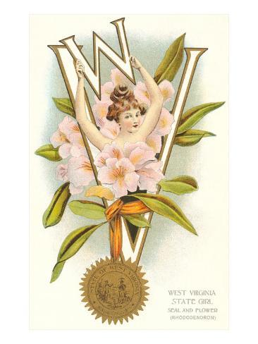 West Virginia Belle Art Print
