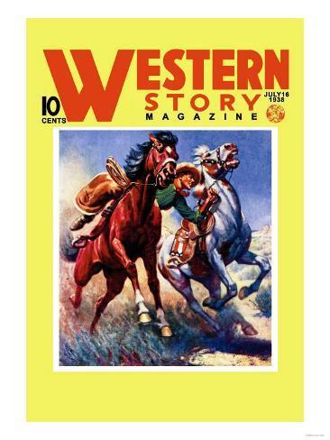 Western Story Magazine: Taming the Wild Art Print