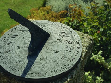 Sundial, Little Hall, Lavenham, Suffolk, England, UK Valokuvavedos