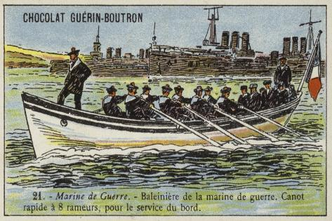 Whaler of the French Navy Stampa giclée