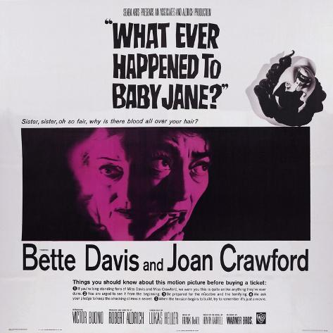 What Ever Happened to Baby Jane?, from Left: Bette Davis, Joan Crawford, 1962 Lámina