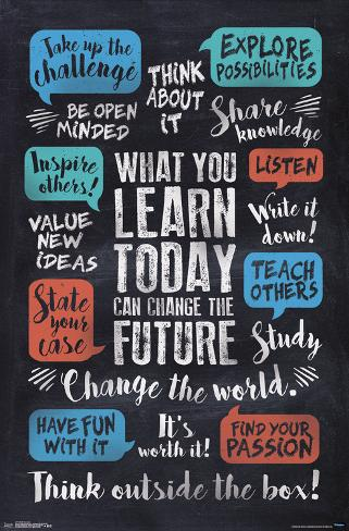 What You Learn Can Change The Future Posters Allposters Ca