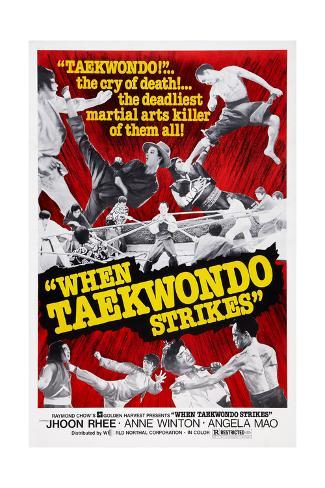 When Taekwondo Strikes Giclee Print