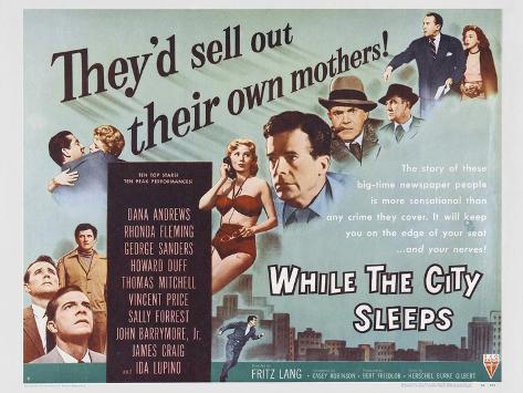 While the City Sleeps, 1956 Art Print