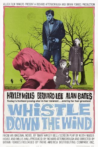 Whistle Down the Wind, Hayley Mills (Front), Alan Bates (Center), 1961 Art Print