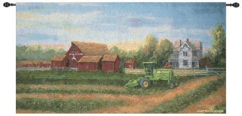 White Farm House Wall Tapestry