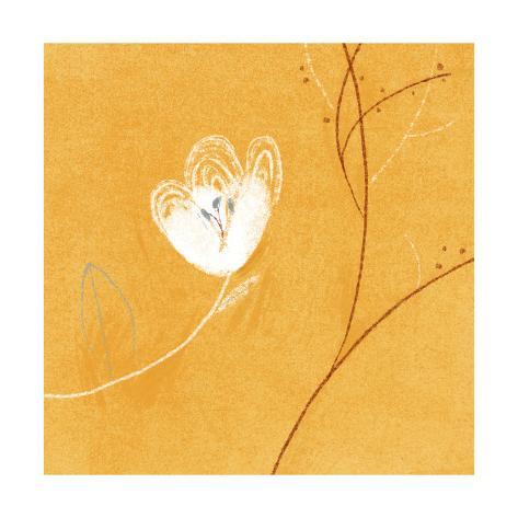 White Flower Premium Giclee Print