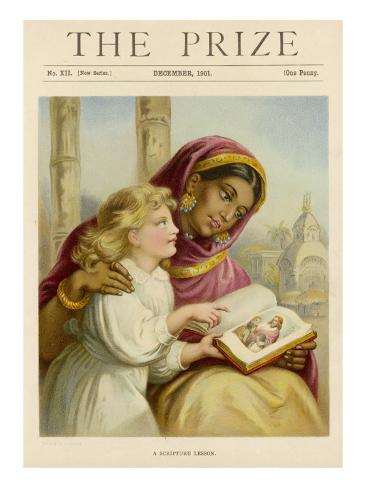 White Girl in India 1901 Impressão giclée