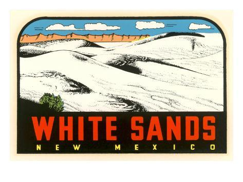 White Sands, New Mexico Decal Stretched Canvas Print