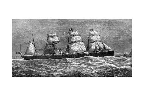 White Star Line's Steamer 'Oceanic, 1871 Giclee Print