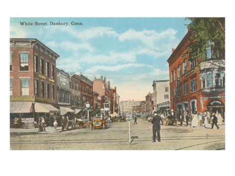 White Street, Danbury, Connecticut Art Print