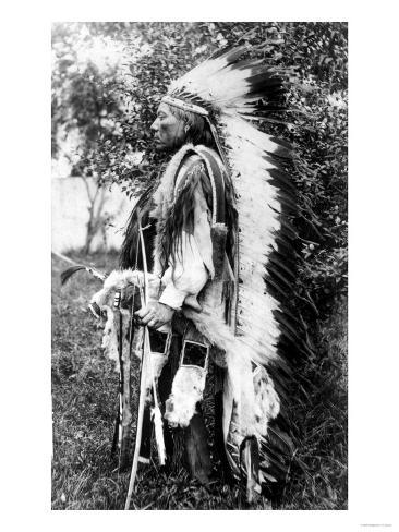 White Wolf, a Comanche Chief, circa 1891-98 Giclee Print