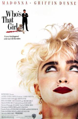 Who's That Girl Original Poster