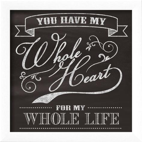 Whole Heart Framed Art Print