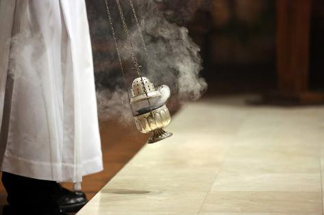 Incense during Mass at the Altar Photographic Print