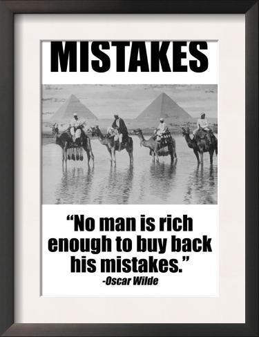 Mistakes Framed Art Print