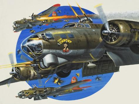 91st Usaaf Bombardment Group Giclee Print
